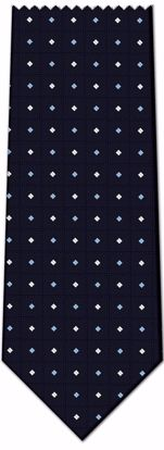 Picture of 100% SILK WOVEN - BLACK WITH DOTS