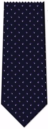Picture of 100% SILK WOVEN - BLACK WITH PURPLE/WHITE LINES