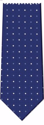Picture of 100% SILK WOVEN - BLUE WITH DOTS