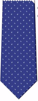 Picture of 100% SILK WOVEN - BLUE WITH LIGHT BLUE/WHITE LINES