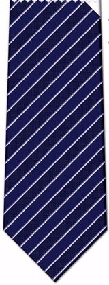Picture of 100% SILK WOVEN - BLUE WITH PURPLE/WHITE STRIPES