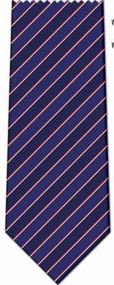 Picture of 100% SILK WOVEN - BLUE WITH RED/WHITE STRIPES