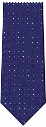 Picture of 100% SILK WOVEN - BLUE WITH WHITE/PURPLE DOTS