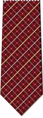 Picture of 100% SILK WOVEN - BURGANDY PLAID