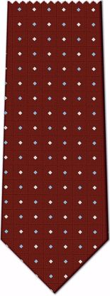 Picture of 100% SILK WOVEN - BURGANDY WITH DOTS