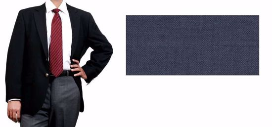 Picture of Blended Blazer With Lycra(Spandex Like) Navy
