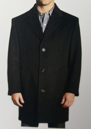 Picture of Charcoal Herringbone Overcoat