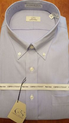Picture of Fine Line Stripe Button Down Wrinkle Free