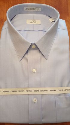 Picture of Herringbone Spread Collar Wrinkle Free (3 Color Options)