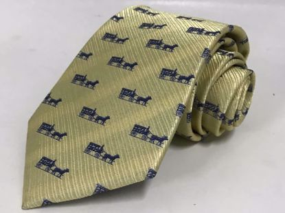 Picture of HORSE & CARRIAGE-YELLOW - 100% SILK WOVEN TEXTURED NECKTIE