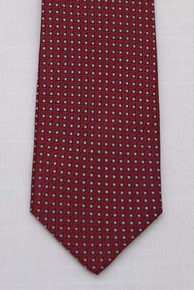 Picture of Red - 100% SILK WOVEN MICRO NEAT NECKTIE