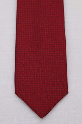 Picture of Red - 100% SILK WOVEN MICRO TEXTURED SOLID NECKTIE