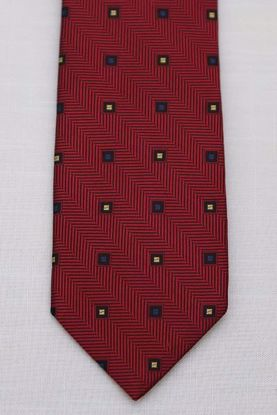Picture of Red - 100% SILK WOVEN TEXTURED NEAT NECKTIE
