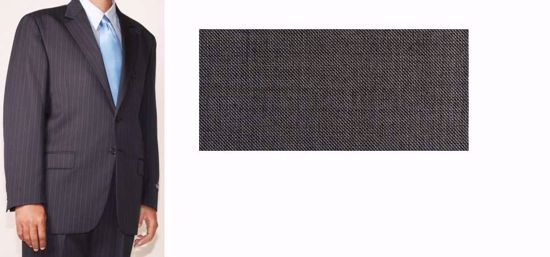 Picture of 52% Poly / 47% Wool / 1% Lycra(Spandex-like) - Black & White Tick