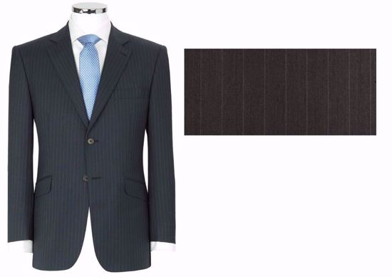 Picture of 52% Poly / 47% Wool / 1% Lycra(Spandex-like) - Subdued Charcoal Stripe